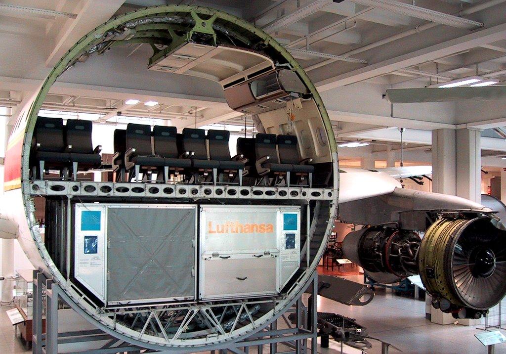 Le fuselage d'un avion