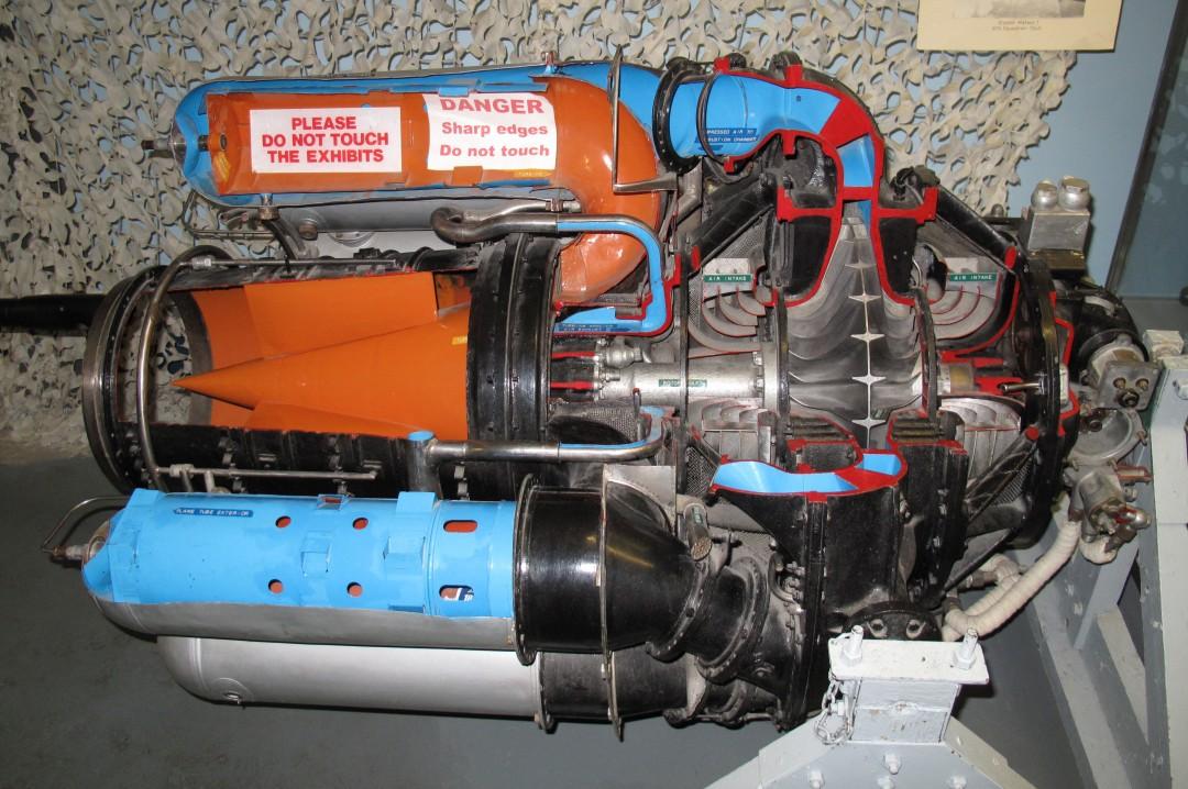 Un turboréacteur Rolls-Royce Welland