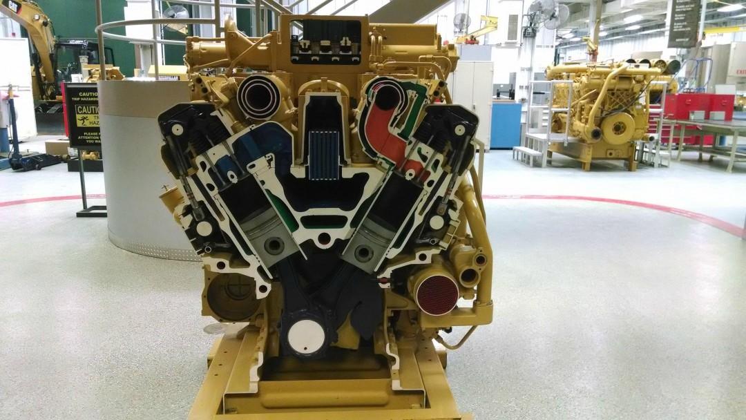 Un moteur diesel Caterpillar