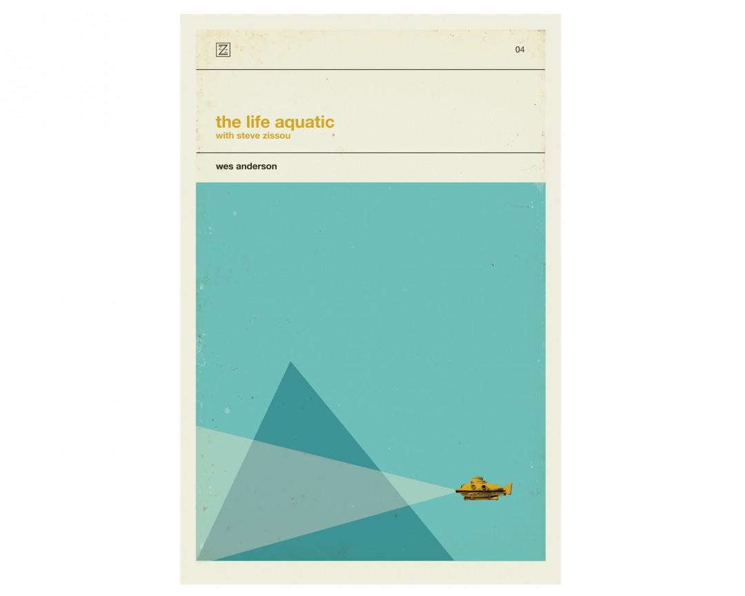 Des affiches r tro minimalistes pour les films de wes anderson for Affiche minimaliste
