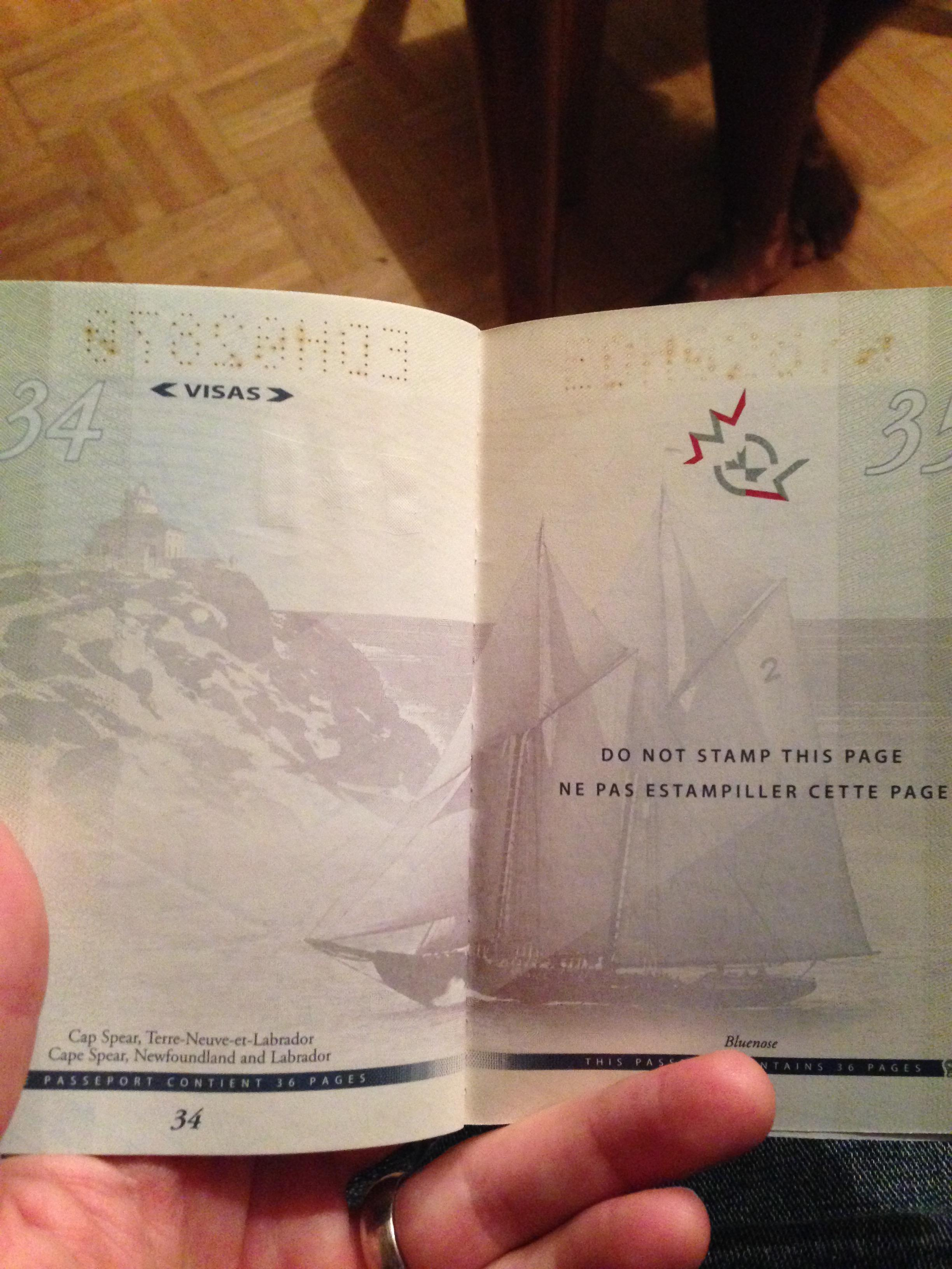 passeport canada uv noire lumiere 16 la boite verte. Black Bedroom Furniture Sets. Home Design Ideas