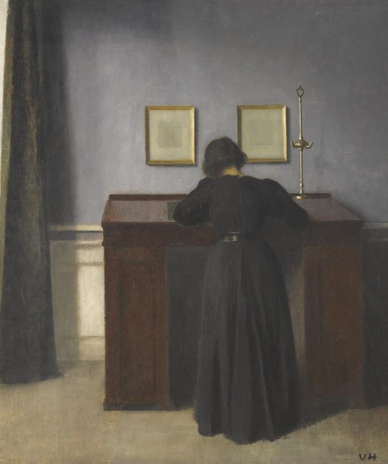 Hammershøi, le maître de la peinture danoise au musée Jacquemart André Willem-hammershoi-14-770x920