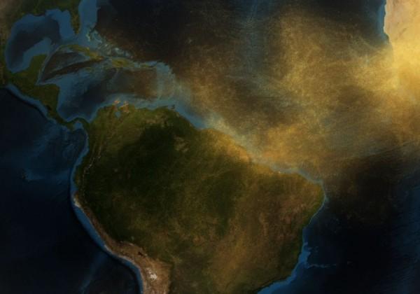 Le sable du Sahara en Amazonie
