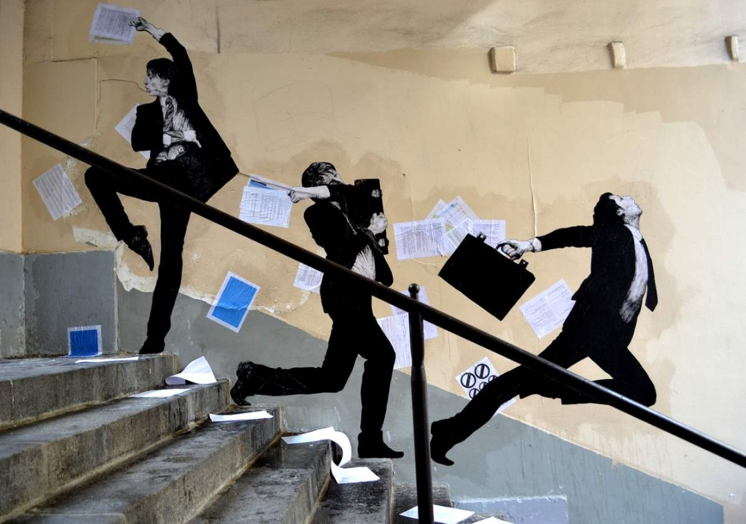 Levalet joue avec la r alit - Galerie street art paris ...