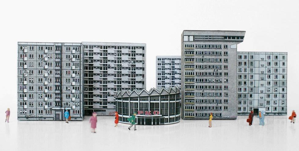 Des maquettes en papier d 39 architecture brutaliste - Maison papier a decouper ...