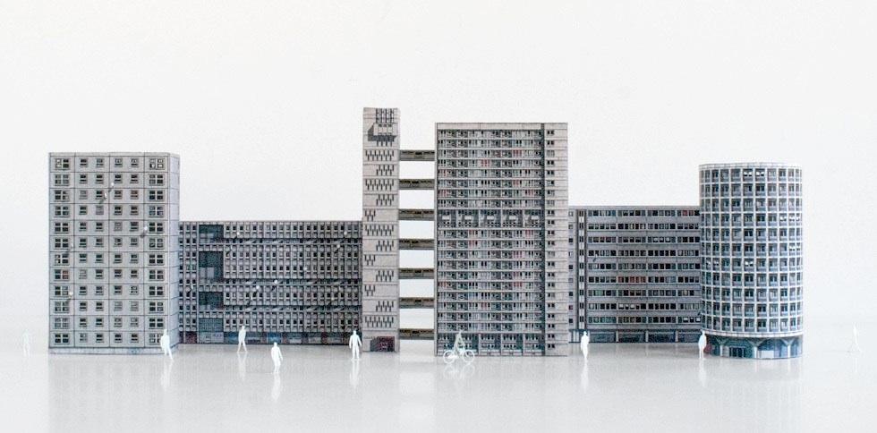 Des Maquettes En Papier D U0026 39 Architecture Brutaliste