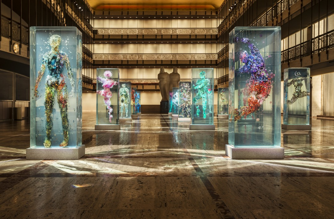 Dustin Yellin?s Psychogeographies for New York City Ballet?s 2015 Art Series, on the Promenade of the David H. Koch Theater