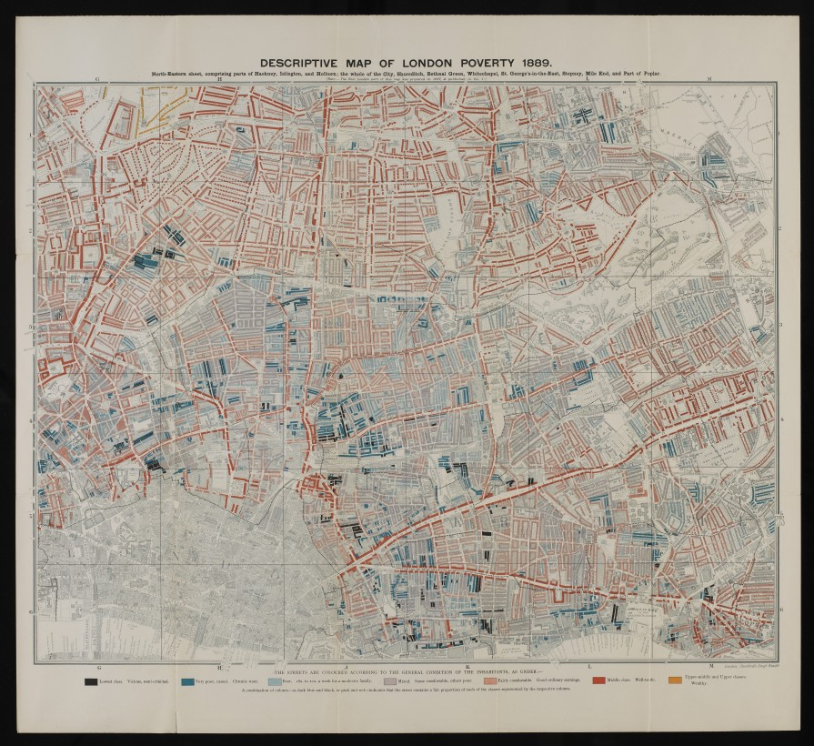 L0074439 Descriptive map of London poverty, 1889.