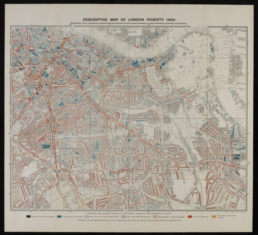L0074437 Descriptive map of London poverty, 1889