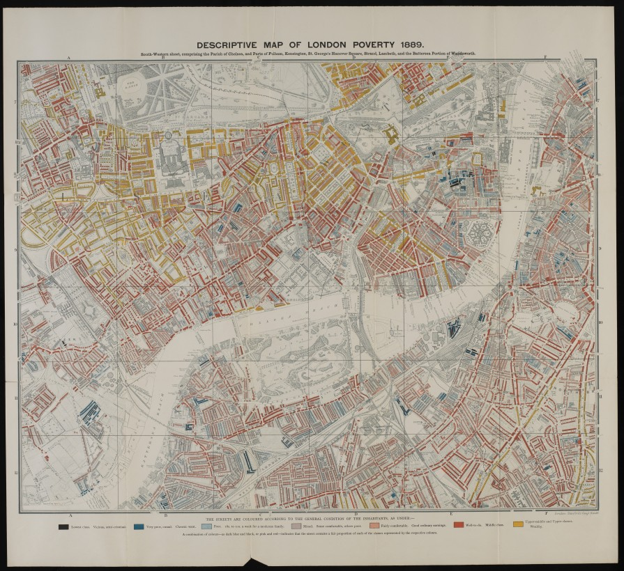 L0074438 Descriptive map of London poverty, 1889