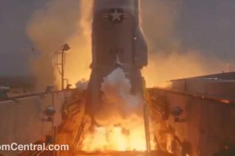 L'explosion d'une fusée atlas en 1961