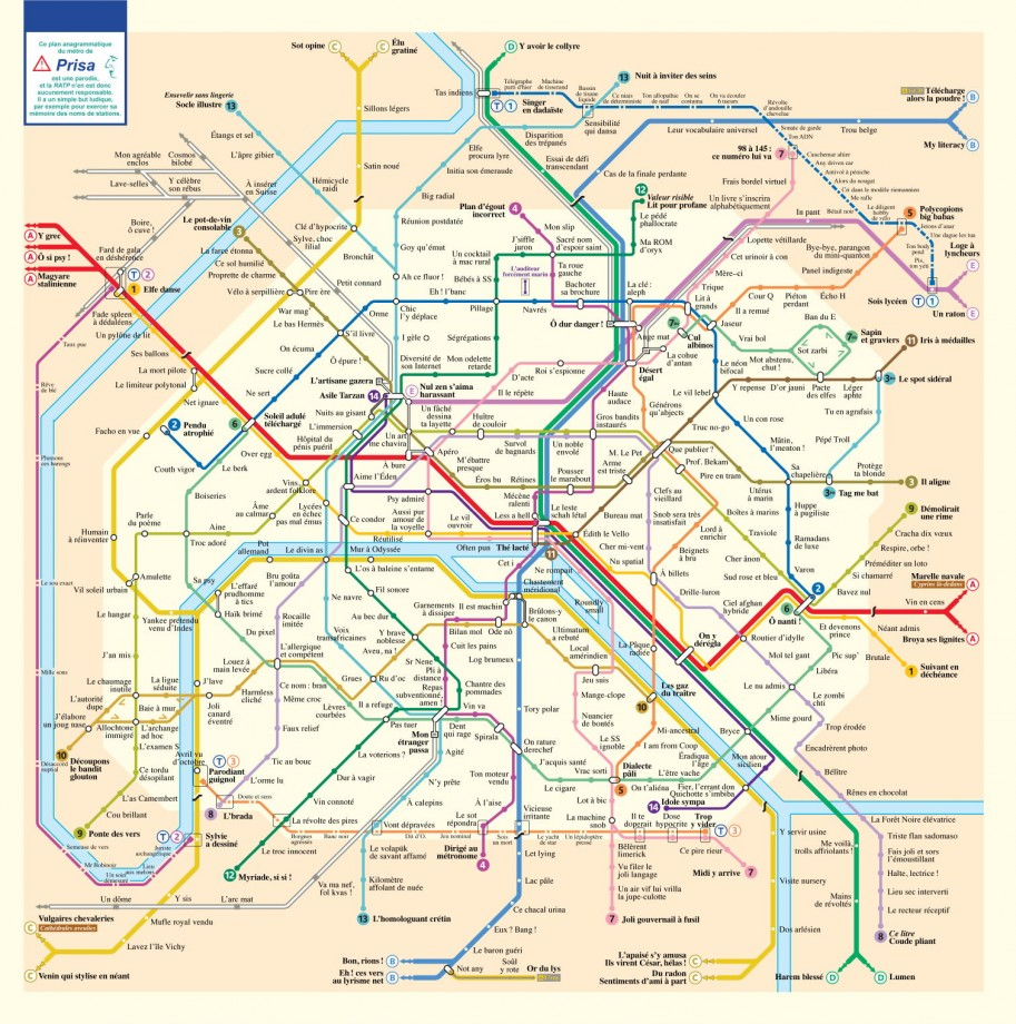 Plan métro Paris