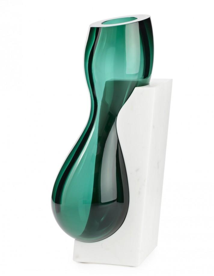 vases en verre et marbre. Black Bedroom Furniture Sets. Home Design Ideas