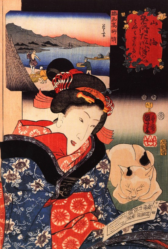 chat-japon-estampe-bois-Utagawa-Kuniyoshi-01