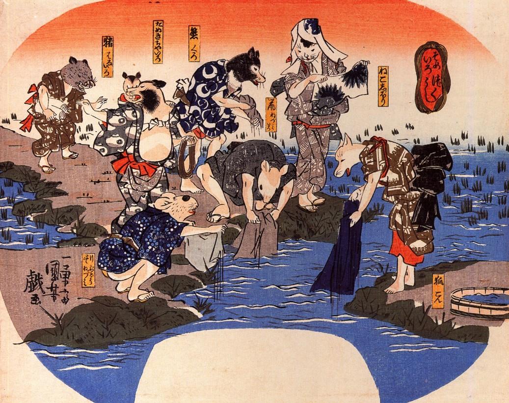 chat-japon-estampe-bois-Utagawa-Kuniyoshi-07