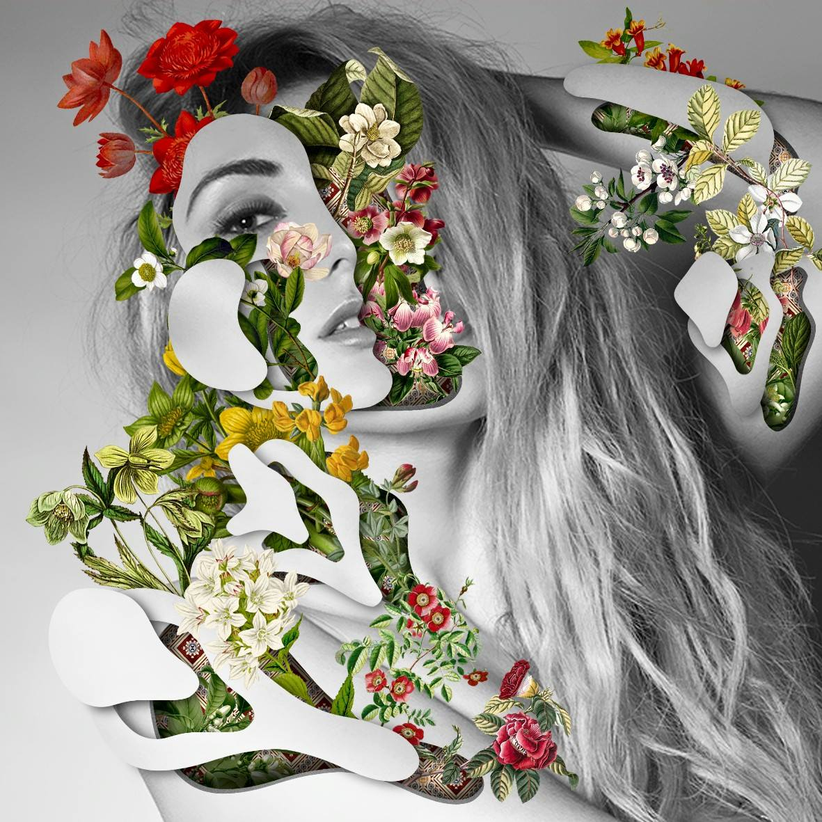 Collage Visage Fleur 03 La Boite Verte