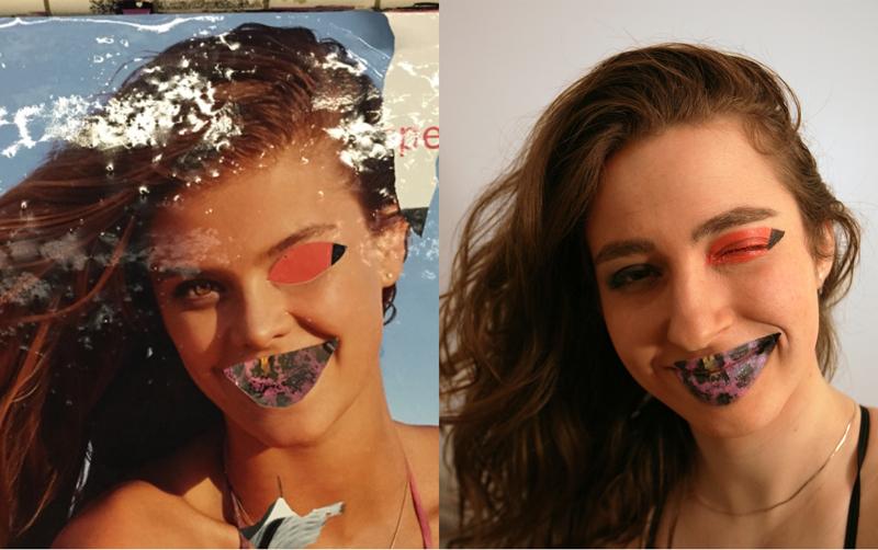 Elle vandalise son visage comme les affiches du métro