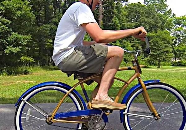 Un vélo inversé impossible à utiliser