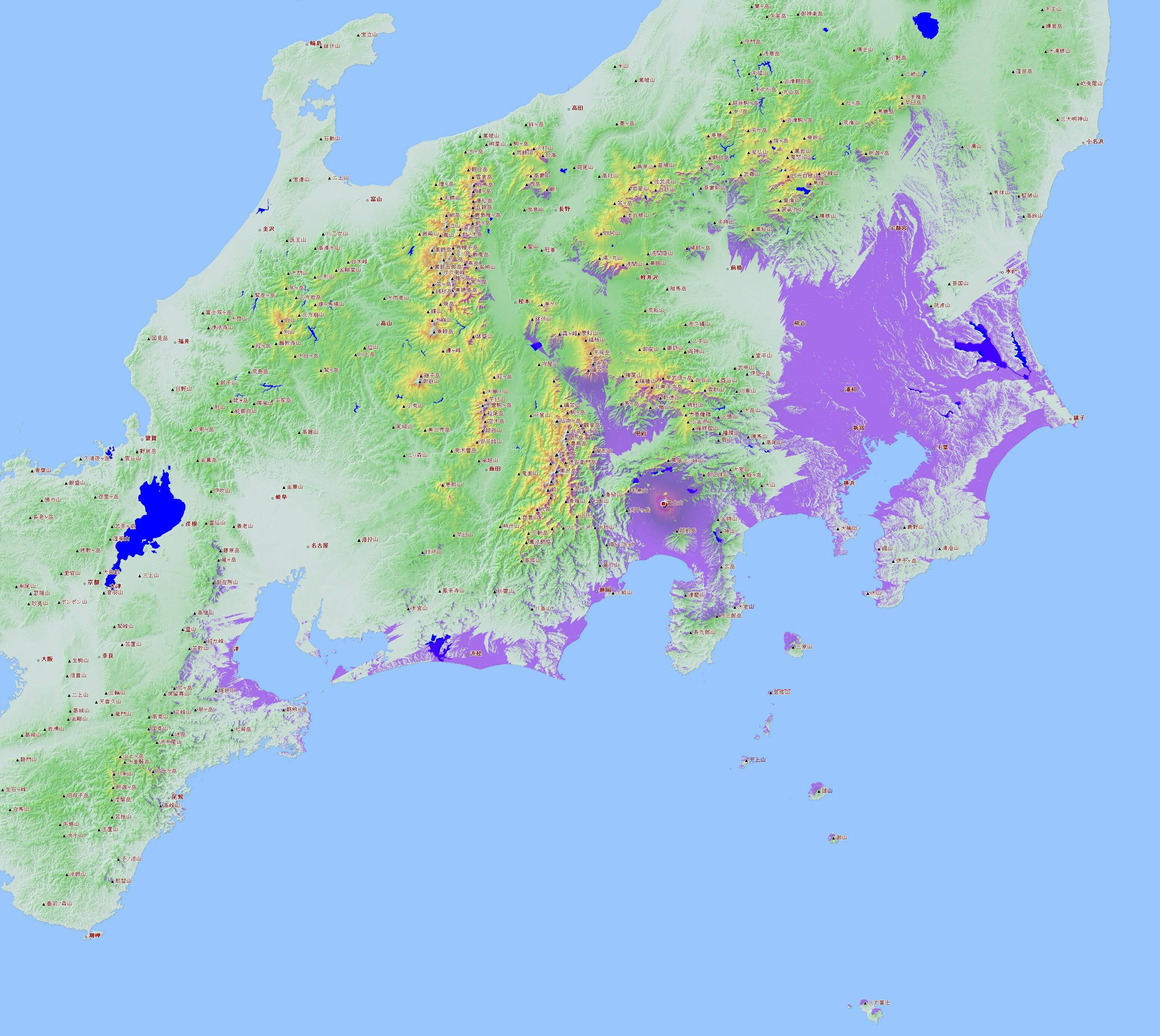 Une Carte De La Visibilite Potentielle Du Mont Fuji