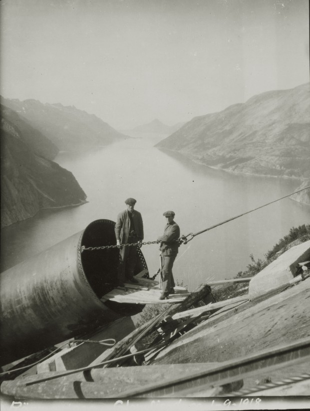 construciton-Glomfjord-centrale-electrique-03