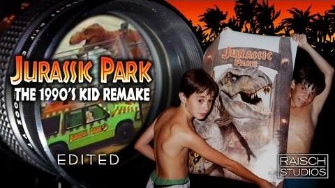 Des gamins font un remake de Jurassic Park en 1993