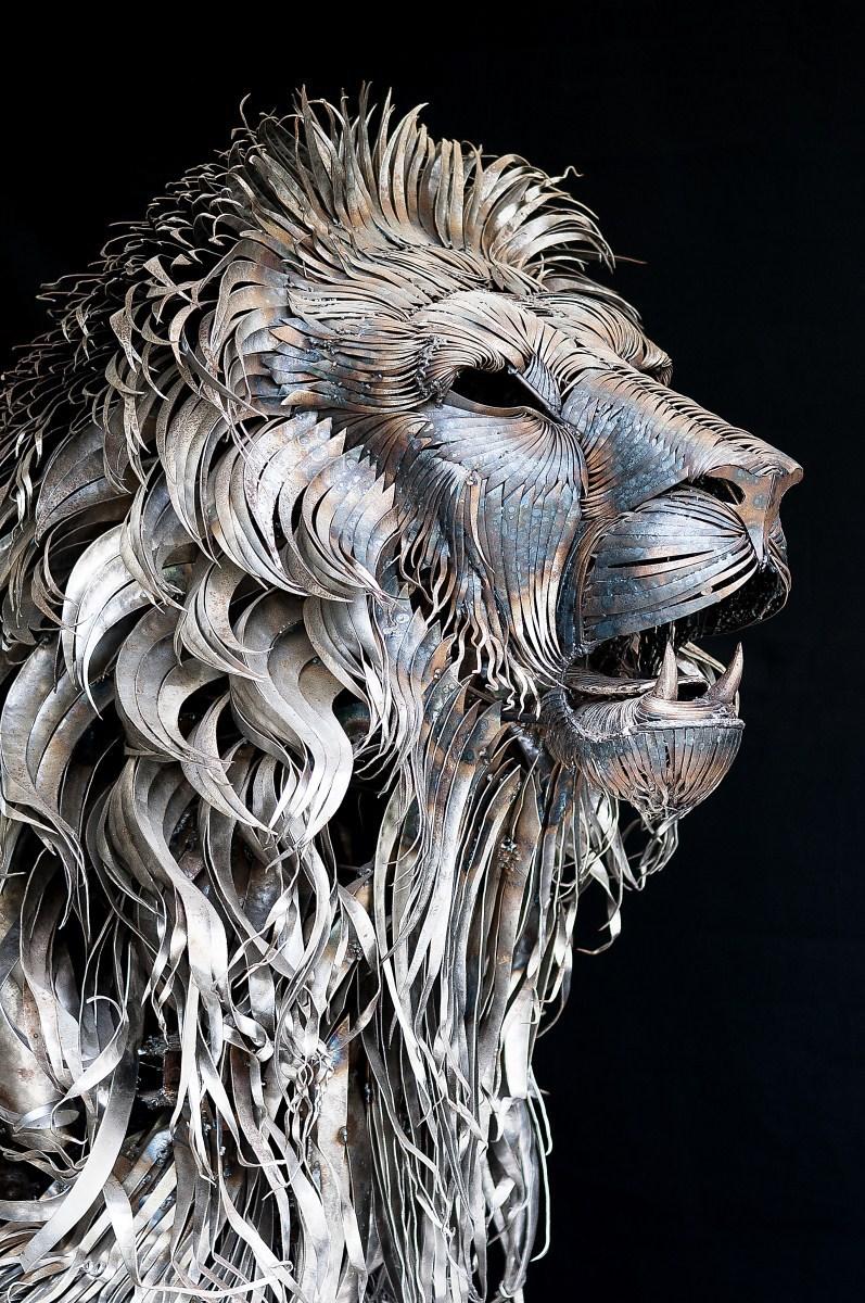 Sculpture animal metal 12 La boite verte