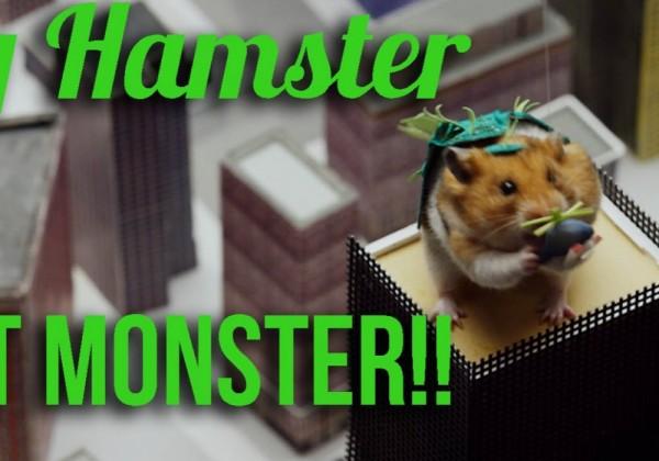 Une ville détruite par un hamster