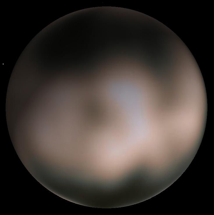 La meilleure image de Charon avant New Horizons, par Hubble