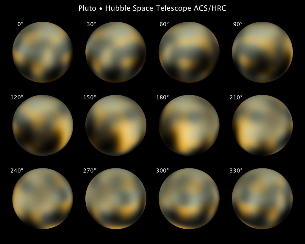 La meilleure vue qu'on ai de Pluton avant New Horizons, prise par Hubble.