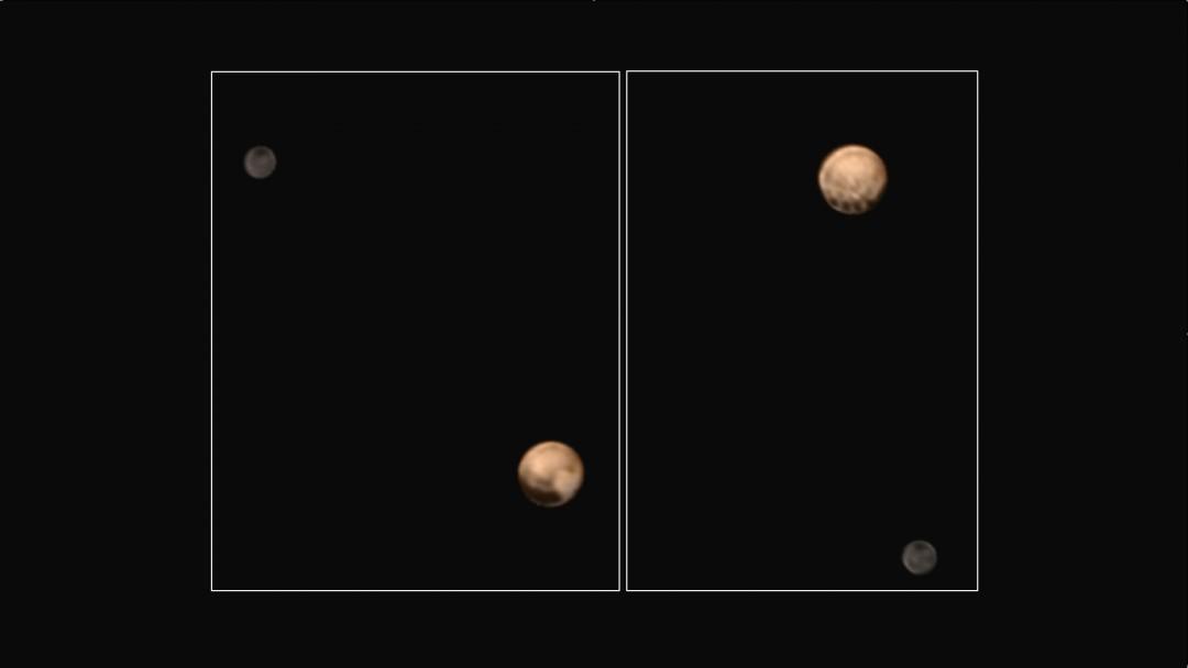 Pluton et Charon le 5 juillet 2015