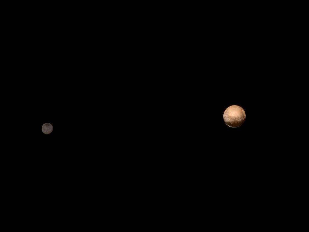 Pluton et Charon le 9 juillet 2015