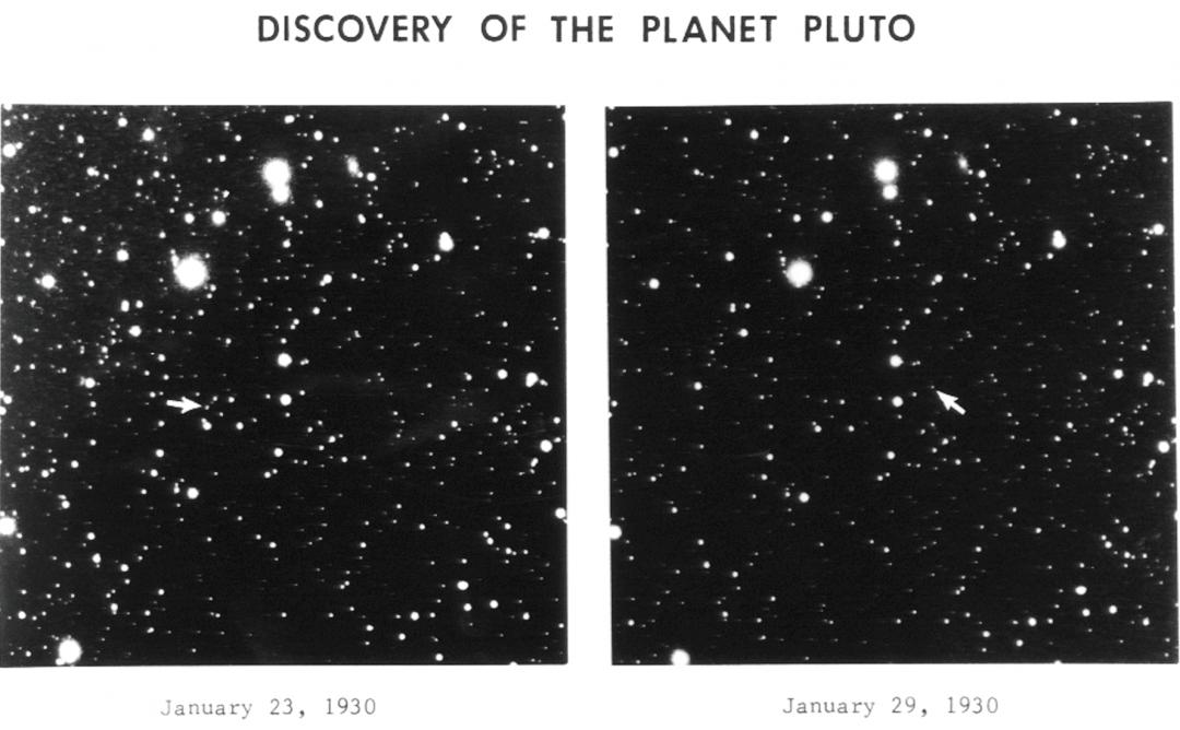 Les premières photos de Pluton qui ont permis sa découverte