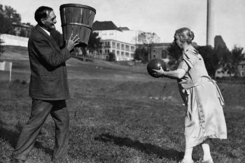 James Naismith  inventor basketball wife Maude 1928