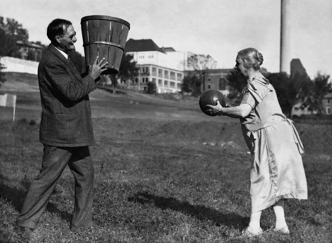 James Naismith  inventor basketball wife Maude 1928