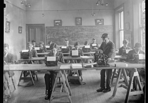 Secretarial class Strabane technical school northen ireland 1930