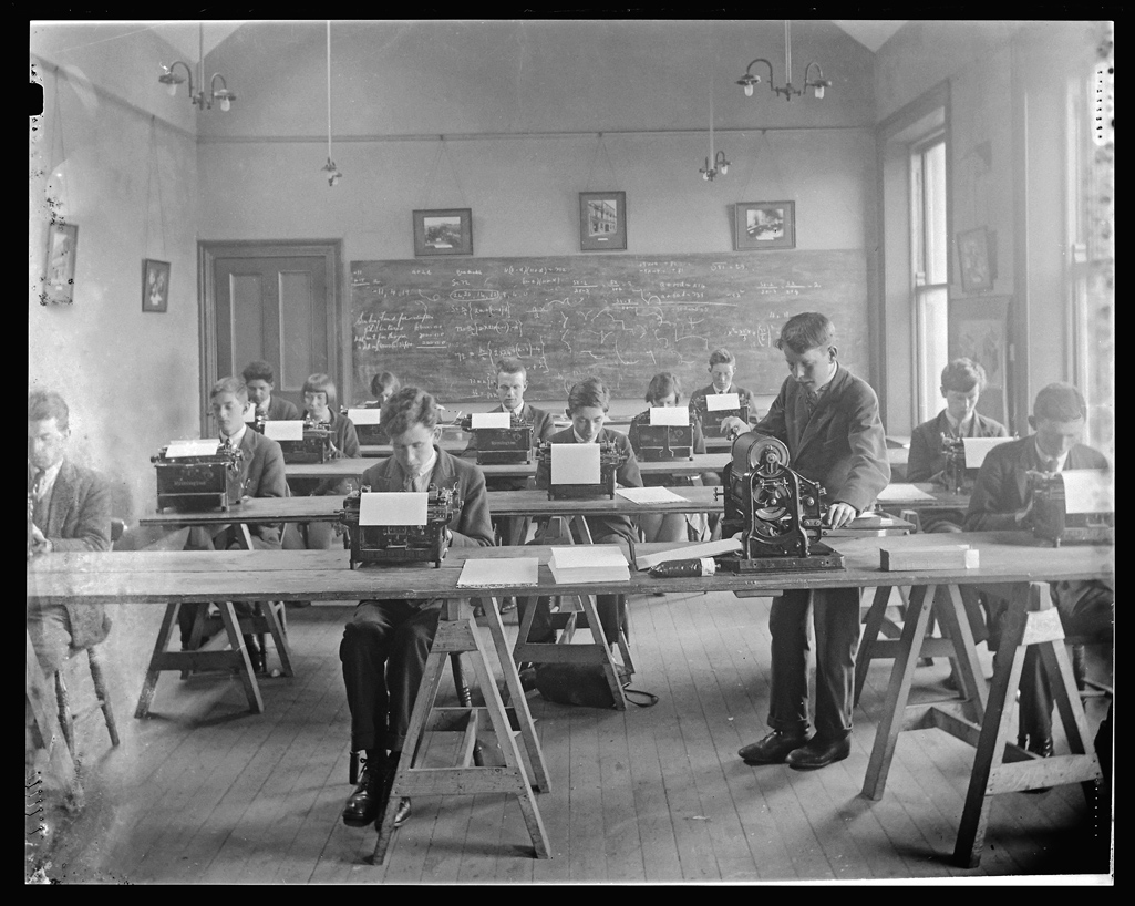 Secretarial class Strabane technical school northen ireland 1930