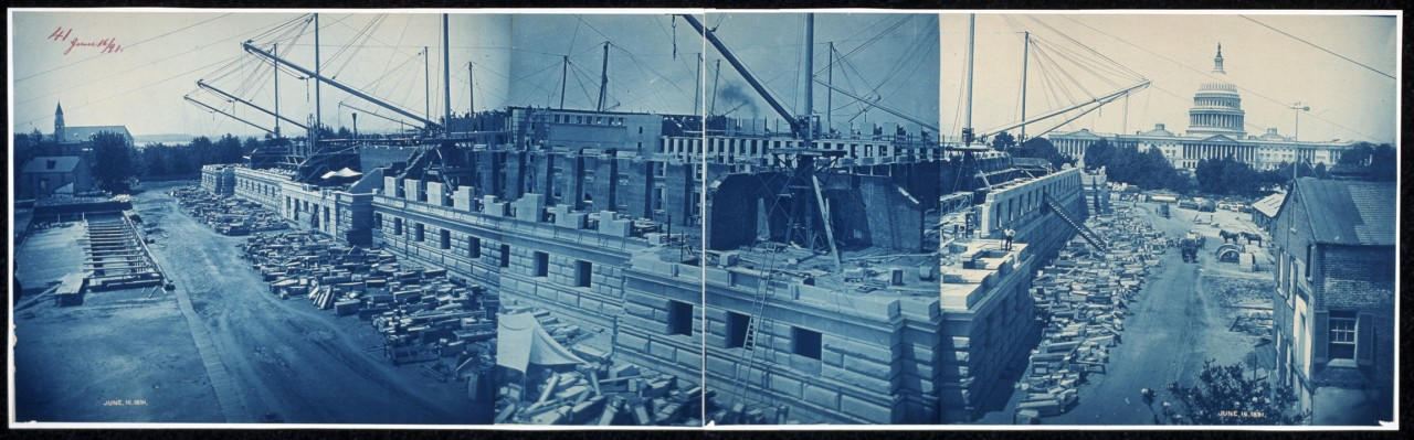 12Construction-of-the-Library-of-Congress-Washington-DC-June-16-1891