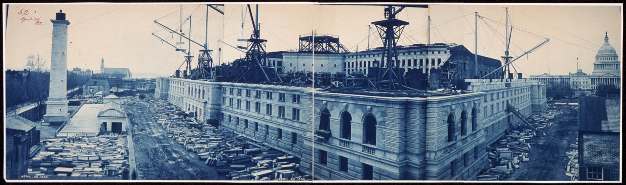 33Construction-of-the-Library-of-Congress-Washington-DC-April-23-1892