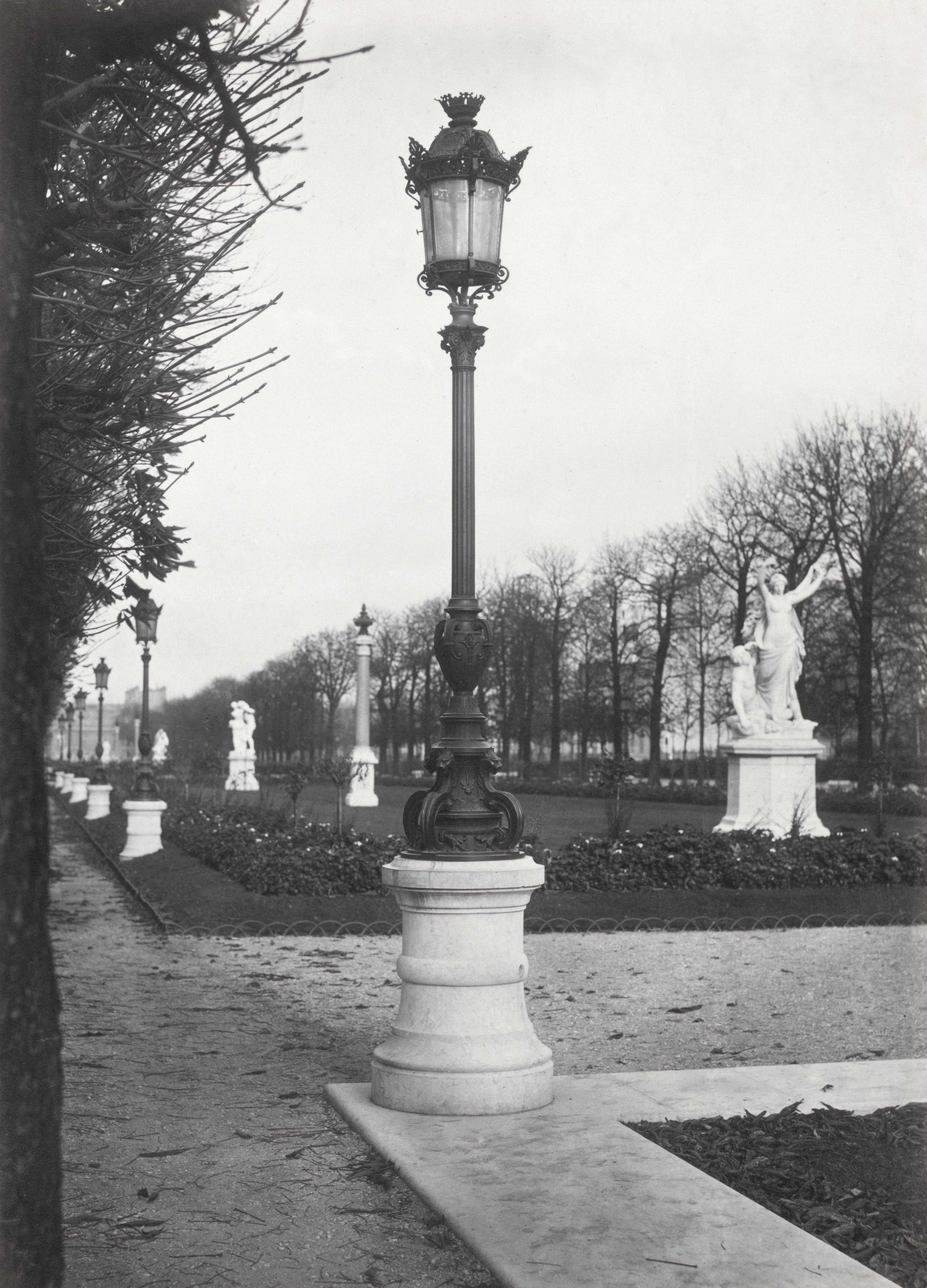 Lampadaire paris charles marville jardin du luxembourg 1878 la boite verte - Comment aller au jardin du luxembourg ...