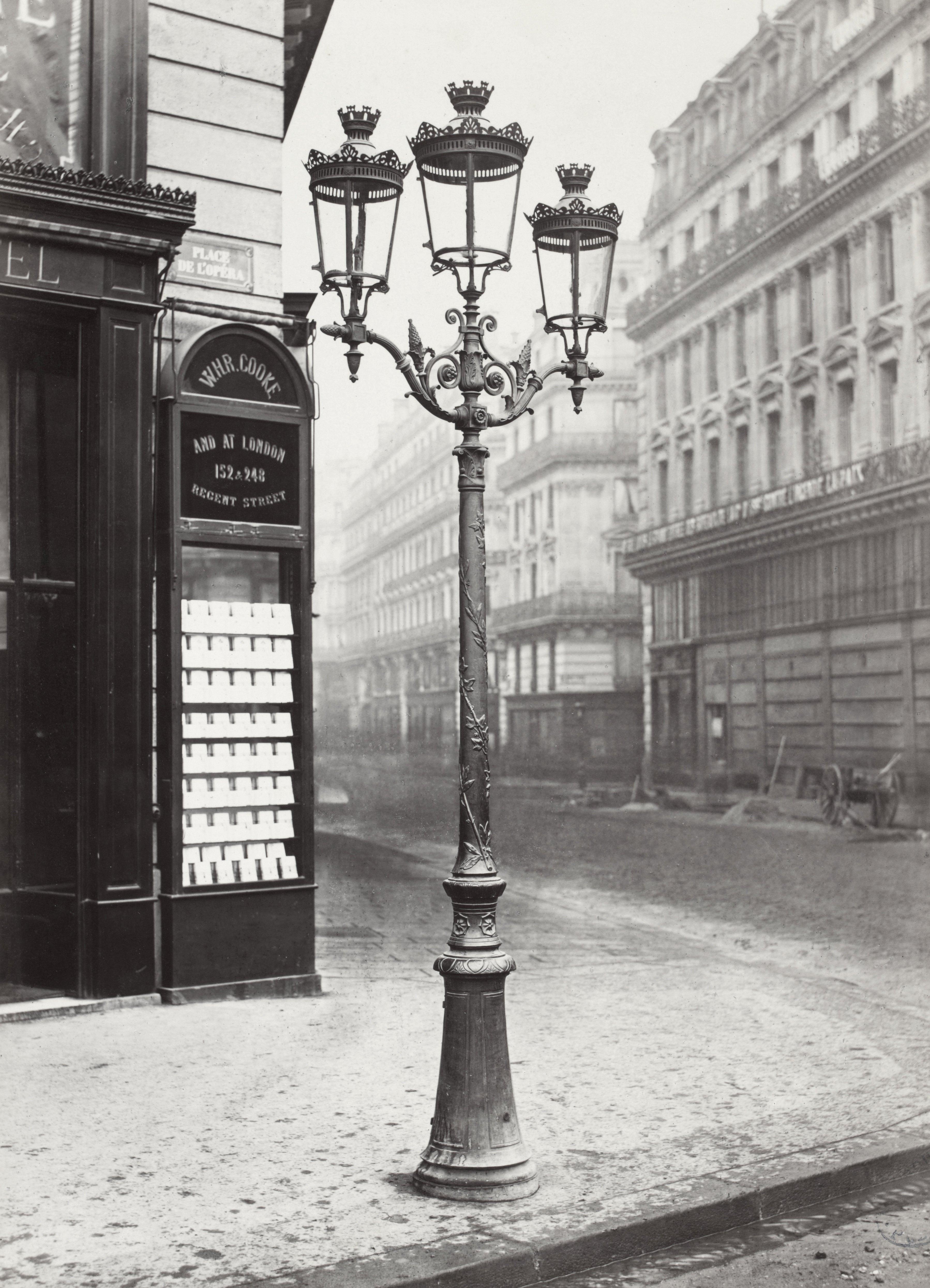 Lampadaire Paris Charles Marville Place De Opera 1878 La