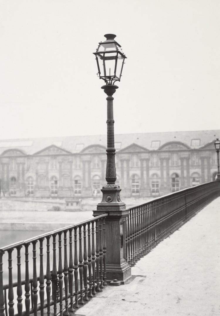 Lampadaire_Paris_Charles_Marville_Pont_des_Saints_Pères_1878