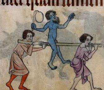 Illustration d'un ballon en vessie de cochon - 1320