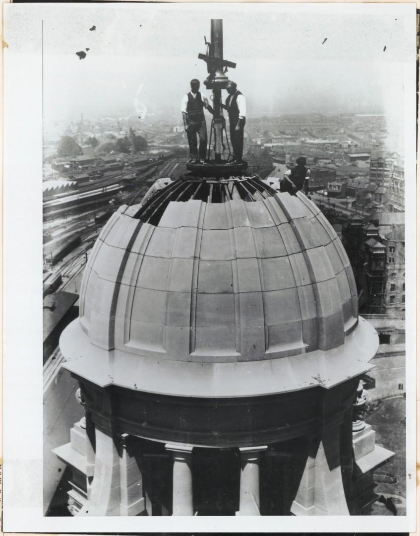 La tour de l'horloge en 1922