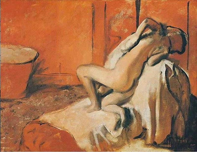 Après le bain, femme s'essuyant - 1884