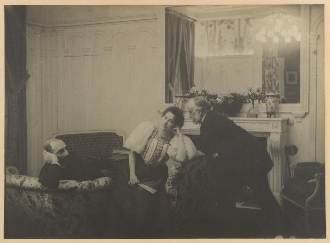 Paul Poujaud, Mme. Arthur Fontaine et Degas