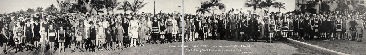 miss-panoramique-First-Annual-Palm-Fete-Dec-7-to-11-1920-Miami-Florida;-The-Bathing-Suit-Parade-at-Miami-Beach