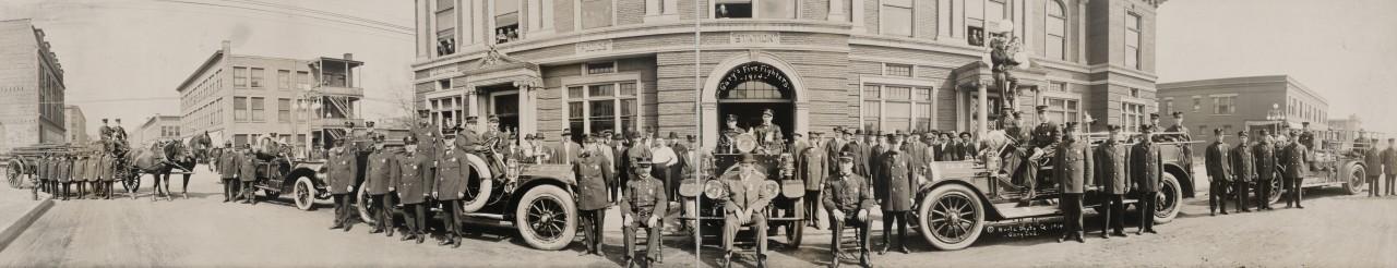 Les pompiers de Gary, Indiana - 1914