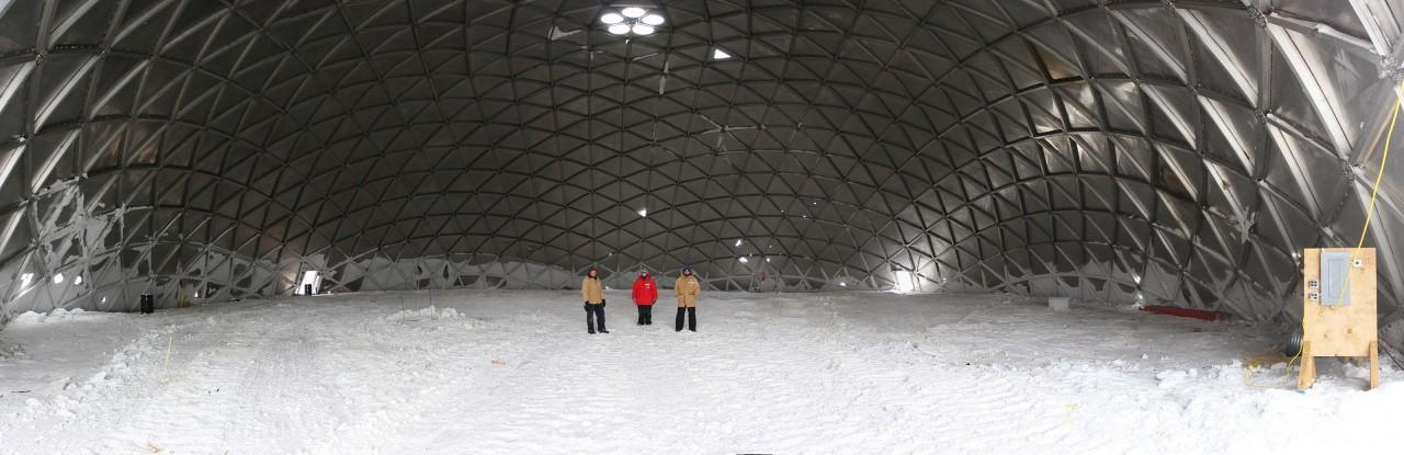 L'intérieur du dome vidé de son contenu - Doug Bell