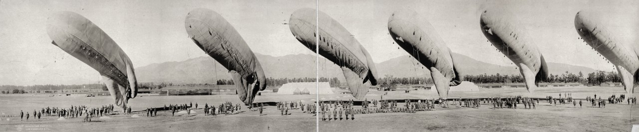 Inspection de ballons à Arcadia, Californie - 1919