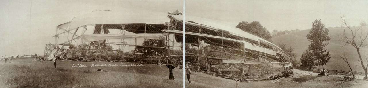 Carcasse du Shenandoah à Sharon, Ohio - 1925